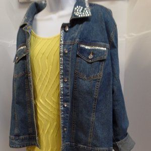 BNWT Rebecca Malone Flowy Yellow Top XL
